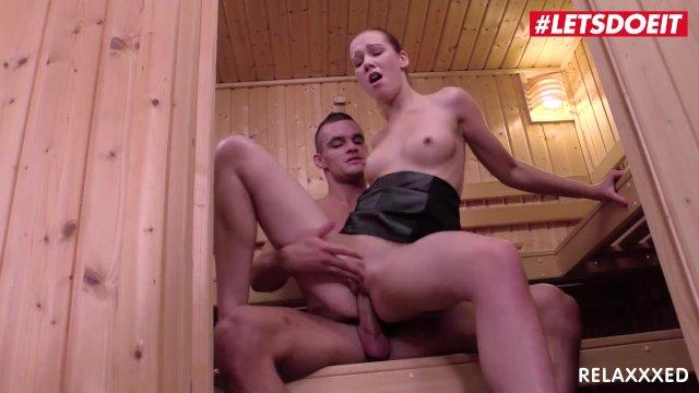 LETSDOEIT - Teen Stepsister Alexis Crystal Fucks In The Sauna with StepBro