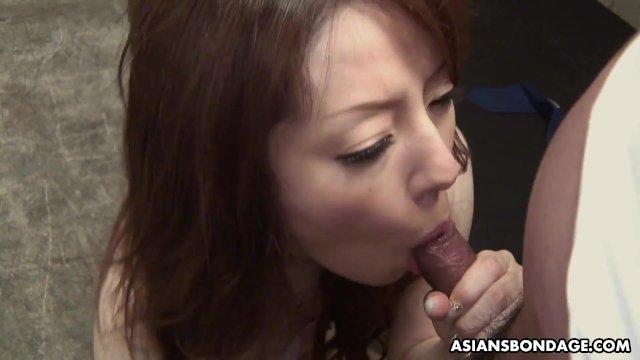Submissive Ria Sakurai sucks dick to get out of jail
