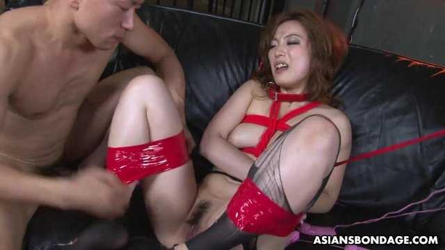 Aiko Nagai couldn t stop squirting while tied up  tight