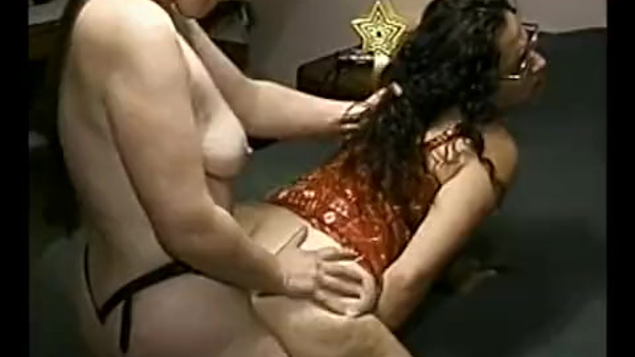 Busty Lesbian Step Sisters Go Crazy on a Double Dong!