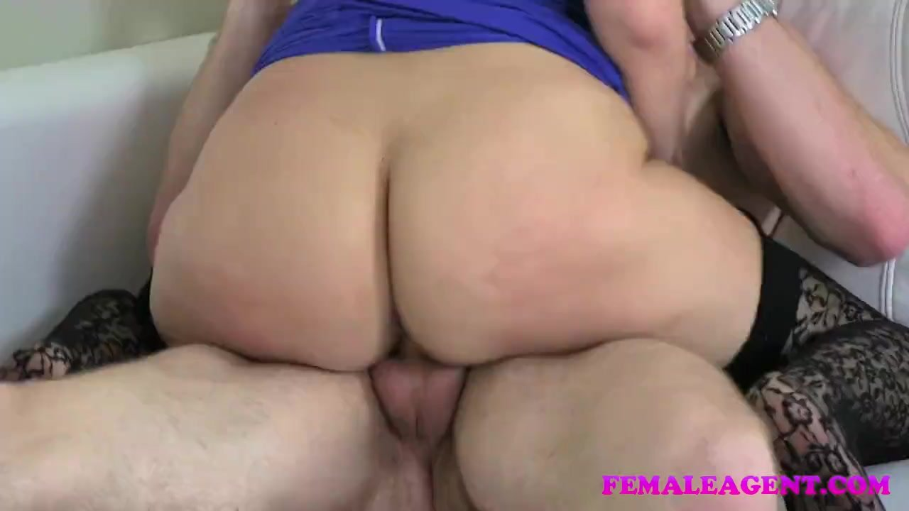 FemaleAgent - Busty blonde and her first stud