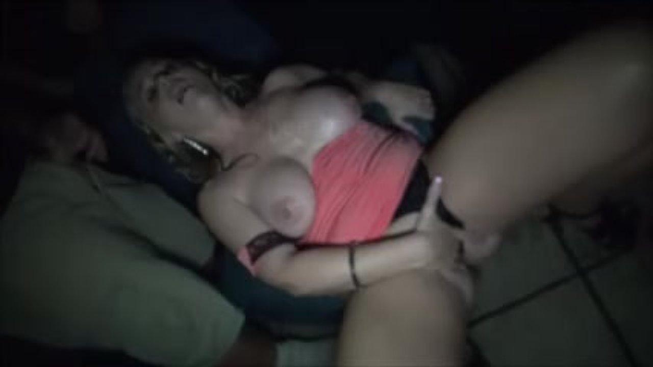 Casey Calvert and Melissa Moore in an interracial threesome fuck