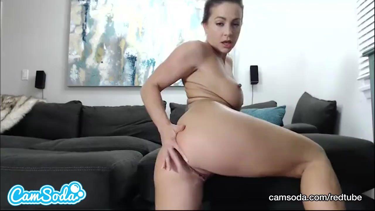 Abigail Mac big ass brunette bombshell ripping her wet vagina.