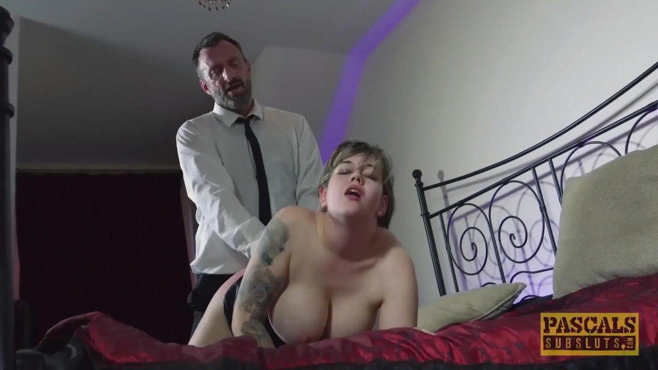 Submissive UK slut dommed by big dick