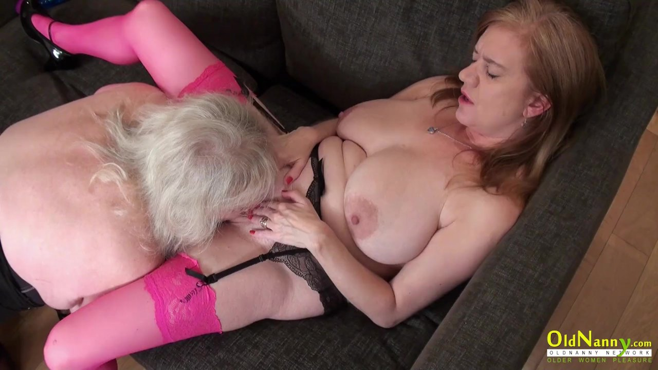 OldNannY Lily May and Claire Knight Lesbian Video