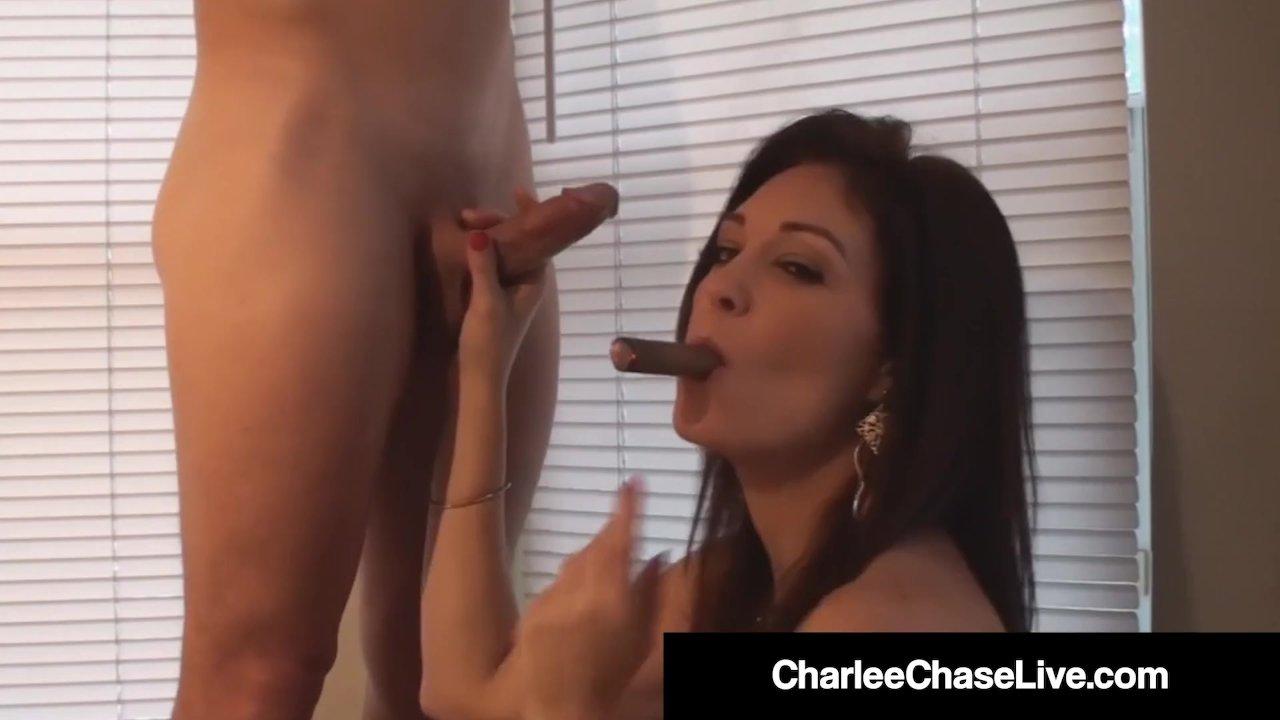 Smoking Milf Charlee Chase Sucks On Cigar A Cock Redtube