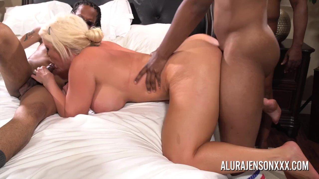 Alura Jenson Interracial Dp Porn alura jenson gangbangedsix black cocks at once