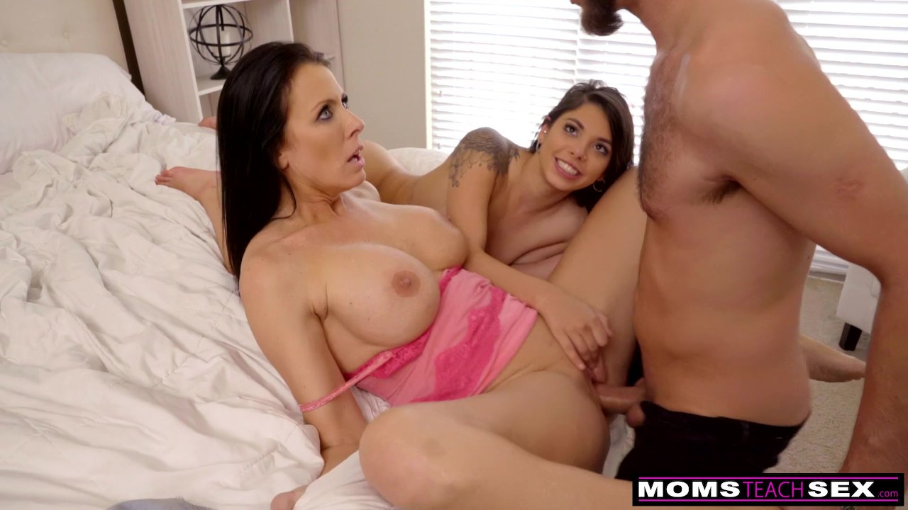 Big Tit Step Mom Helps Her Son