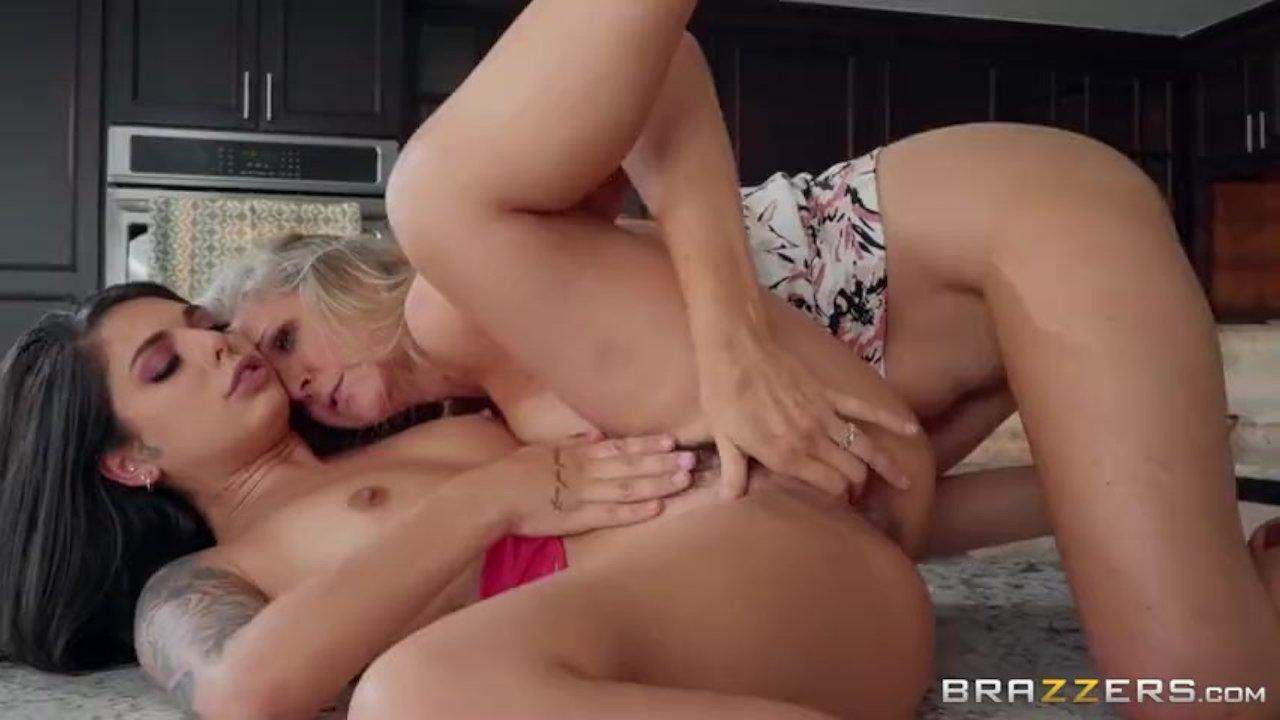 Lesbian Friend Sucks Cock