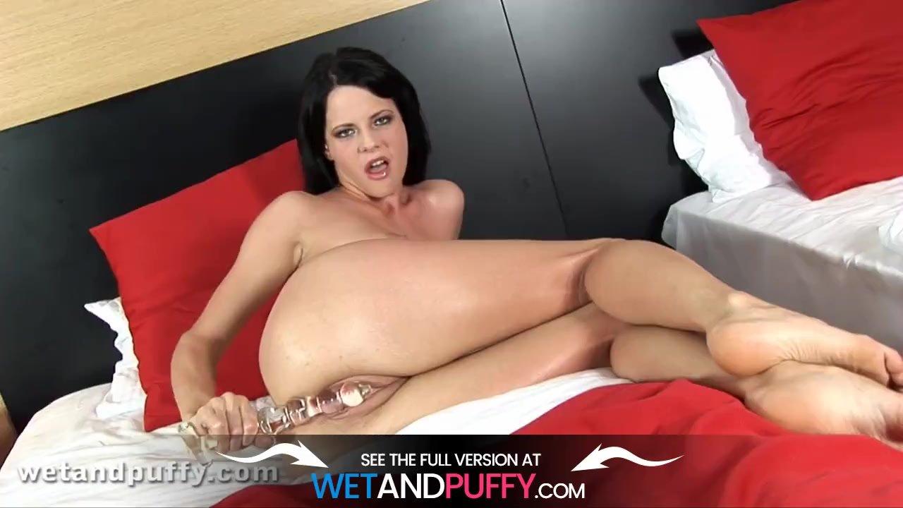 Hungarian Hottie Aliz Uses Monster Dildo