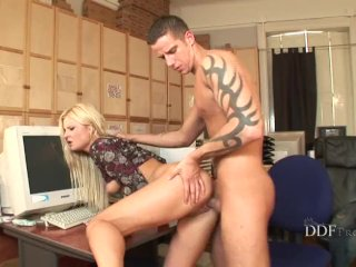 Kassey gets fucked in the office
