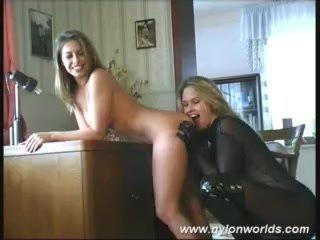 Sexy fetish girls in nylon posing