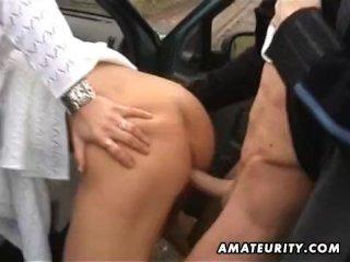 Mature amateur wife outdoor hardcore action