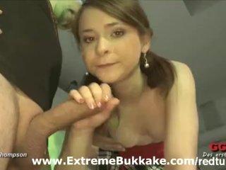 A lovely brunette in a hardcore orgy