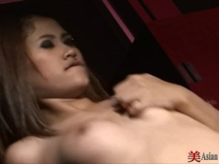 Sexy thai takes a hard cock