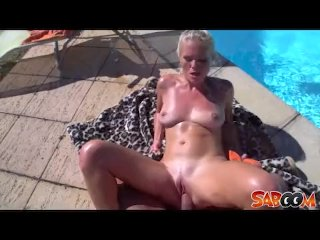 Cathy Andersons outdoor pool fuck