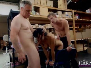 Fucked in a threesome