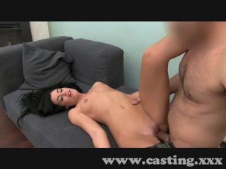 Brunette's pussy hungry for spunk