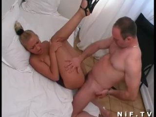 French babe anal fucked and creamed