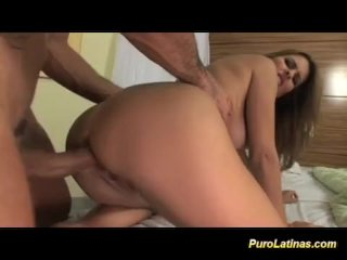 Latina babe gets long cock sex and anal drilling