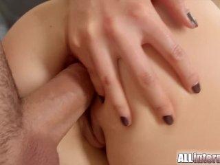 Shy Swedish blonde anal creampie