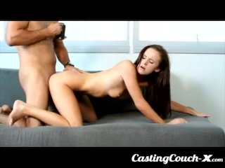 CastingCouch X – Slut shows her tight pussy