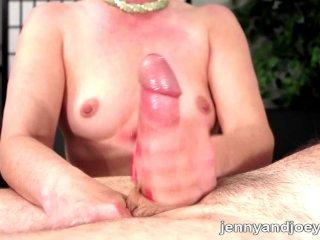 Perfect handjob and cumplay