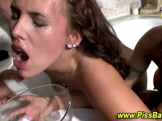 Piss drenched nasty sluts