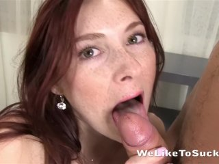 Weliketosuck freckled redhead sucks and fucks