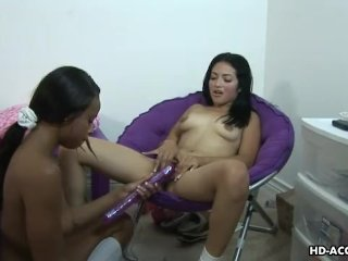 Latina bangs her ebony girlfriend