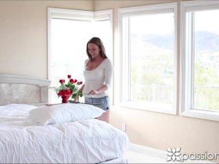 Passion-HD Teen's tits bounce as she fucks