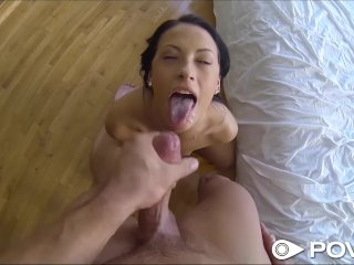 POVD Brunette babe gets more than popcorn