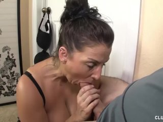 Busty Milf Tit-Fucking And Jerking