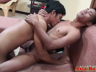 Ethnic asian twink fucked after bj