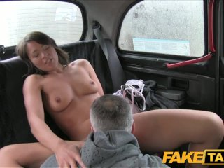 FakeTaxi Brunette has sex with her driver