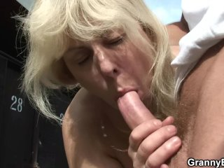 Old gets nailed in the changing room