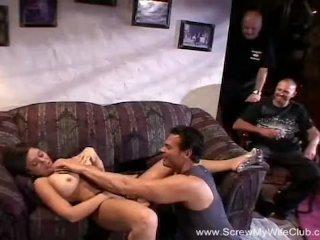 Natural Body Brunette Swinger Wife