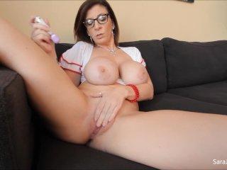 Big Tit Sara Jay Gets Off with Hitachi
