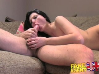 FakeAgentUK Sexy amateur gets anal action