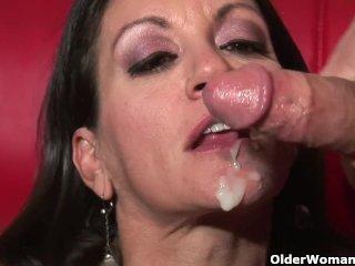Busty milf Persia Monir gets facial