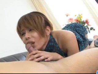 Moe Aizawa Asian milf craves for hardcore se