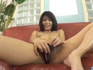 HousewifeAzumi Harusaki enjoys toys up her