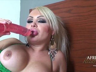 Africa Kampos With A Dildo In Her Asshole!
