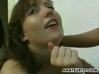 Amateur Girlfriend With Big Tits In Action