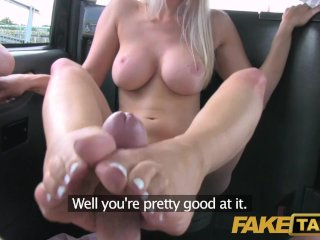 Fake Taxi Creampie for hot blonde in taxi