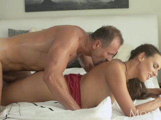 MOM Horny and wet milf makes him come twice
