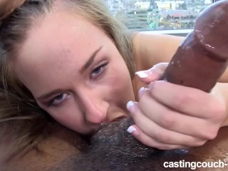 White newbie slut loves her black cock