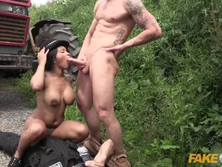 Fake Cop Boy racer gets involved in threesome