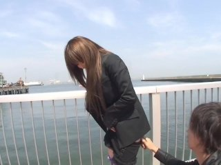 Japanese outdoor stripping with toys Subs