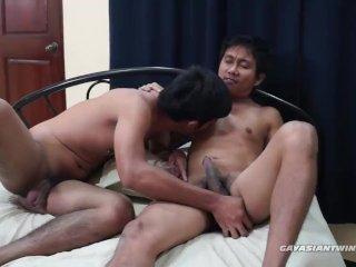 Gay Asian Boys Ricky and Kris Fucking Bareback